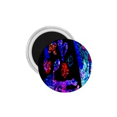 Grunge Abstract In Black Grunge Effect Layered Images Of Texture And Pattern In Pink Black Blue Red 1.75  Magnets