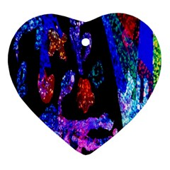 Grunge Abstract In Black Grunge Effect Layered Images Of Texture And Pattern In Pink Black Blue Red Ornament (heart)