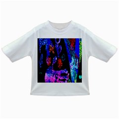 Grunge Abstract In Black Grunge Effect Layered Images Of Texture And Pattern In Pink Black Blue Red Infant/toddler T Shirts