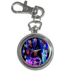 Grunge Abstract In Black Grunge Effect Layered Images Of Texture And Pattern In Pink Black Blue Red Key Chain Watches