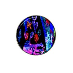 Grunge Abstract In Black Grunge Effect Layered Images Of Texture And Pattern In Pink Black Blue Red Hat Clip Ball Marker (10 pack)