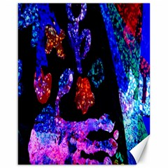 Grunge Abstract In Black Grunge Effect Layered Images Of Texture And Pattern In Pink Black Blue Red Canvas 16  x 20