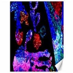 Grunge Abstract In Black Grunge Effect Layered Images Of Texture And Pattern In Pink Black Blue Red Canvas 36  x 48