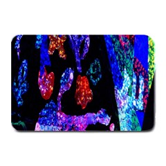 Grunge Abstract In Black Grunge Effect Layered Images Of Texture And Pattern In Pink Black Blue Red Plate Mats