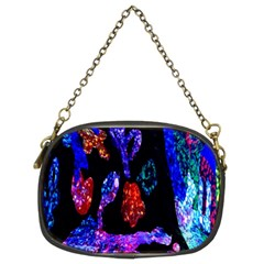 Grunge Abstract In Black Grunge Effect Layered Images Of Texture And Pattern In Pink Black Blue Red Chain Purses (Two Sides)