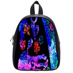 Grunge Abstract In Black Grunge Effect Layered Images Of Texture And Pattern In Pink Black Blue Red School Bags (Small)