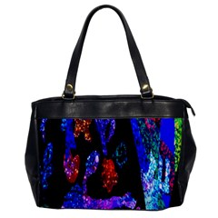 Grunge Abstract In Black Grunge Effect Layered Images Of Texture And Pattern In Pink Black Blue Red Office Handbags
