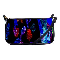 Grunge Abstract In Black Grunge Effect Layered Images Of Texture And Pattern In Pink Black Blue Red Shoulder Clutch Bags