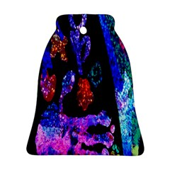 Grunge Abstract In Black Grunge Effect Layered Images Of Texture And Pattern In Pink Black Blue Red Ornament (bell)