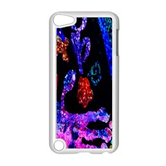 Grunge Abstract In Black Grunge Effect Layered Images Of Texture And Pattern In Pink Black Blue Red Apple iPod Touch 5 Case (White)