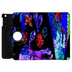 Grunge Abstract In Black Grunge Effect Layered Images Of Texture And Pattern In Pink Black Blue Red Apple iPad Mini Flip 360 Case