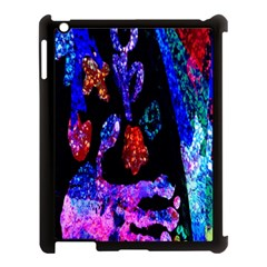 Grunge Abstract In Black Grunge Effect Layered Images Of Texture And Pattern In Pink Black Blue Red Apple Ipad 3/4 Case (black)