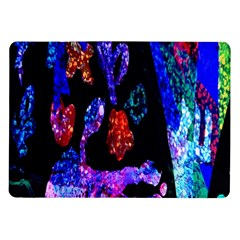 Grunge Abstract In Black Grunge Effect Layered Images Of Texture And Pattern In Pink Black Blue Red Samsung Galaxy Tab 10.1  P7500 Flip Case