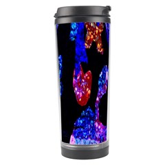 Grunge Abstract In Black Grunge Effect Layered Images Of Texture And Pattern In Pink Black Blue Red Travel Tumbler