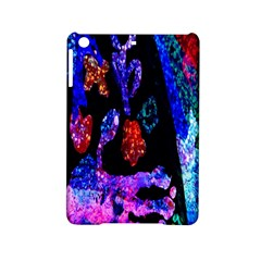 Grunge Abstract In Black Grunge Effect Layered Images Of Texture And Pattern In Pink Black Blue Red Ipad Mini 2 Hardshell Cases