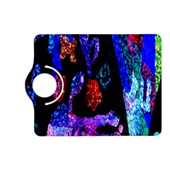 Grunge Abstract In Black Grunge Effect Layered Images Of Texture And Pattern In Pink Black Blue Red Kindle Fire Hd (2013) Flip 360 Case