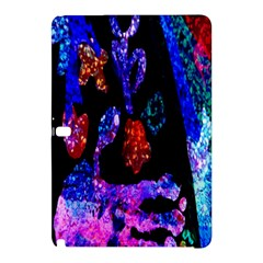 Grunge Abstract In Black Grunge Effect Layered Images Of Texture And Pattern In Pink Black Blue Red Samsung Galaxy Tab Pro 10 1 Hardshell Case