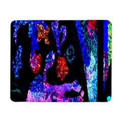 Grunge Abstract In Black Grunge Effect Layered Images Of Texture And Pattern In Pink Black Blue Red Samsung Galaxy Tab Pro 8 4  Flip Case