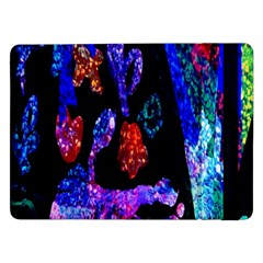 Grunge Abstract In Black Grunge Effect Layered Images Of Texture And Pattern In Pink Black Blue Red Samsung Galaxy Tab Pro 12.2  Flip Case