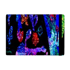 Grunge Abstract In Black Grunge Effect Layered Images Of Texture And Pattern In Pink Black Blue Red Ipad Mini 2 Flip Cases