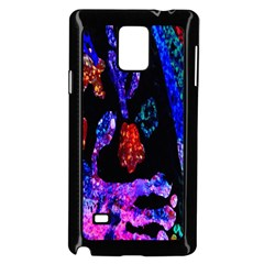 Grunge Abstract In Black Grunge Effect Layered Images Of Texture And Pattern In Pink Black Blue Red Samsung Galaxy Note 4 Case (Black)