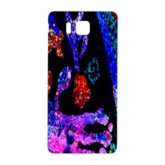 Grunge Abstract In Black Grunge Effect Layered Images Of Texture And Pattern In Pink Black Blue Red Samsung Galaxy Alpha Hardshell Back Case
