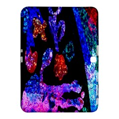 Grunge Abstract In Black Grunge Effect Layered Images Of Texture And Pattern In Pink Black Blue Red Samsung Galaxy Tab 4 (10.1 ) Hardshell Case