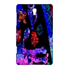 Grunge Abstract In Black Grunge Effect Layered Images Of Texture And Pattern In Pink Black Blue Red Samsung Galaxy Tab S (8 4 ) Hardshell Case