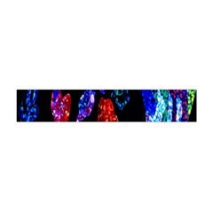 Grunge Abstract In Black Grunge Effect Layered Images Of Texture And Pattern In Pink Black Blue Red Flano Scarf (Mini)