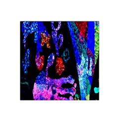 Grunge Abstract In Black Grunge Effect Layered Images Of Texture And Pattern In Pink Black Blue Red Satin Bandana Scarf