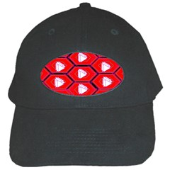 Red Bee Hive Background Black Cap