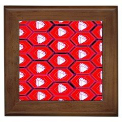 Red Bee Hive Background Framed Tiles
