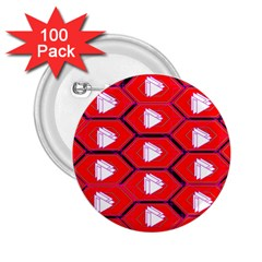 Red Bee Hive Background 2 25  Buttons (100 Pack)