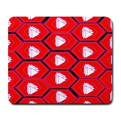Red Bee Hive Background Large Mousepads