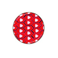 Red Bee Hive Background Hat Clip Ball Marker (4 pack)