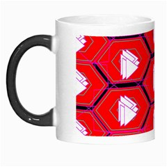 Red Bee Hive Background Morph Mugs