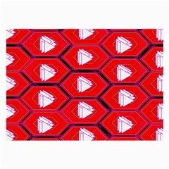 Red Bee Hive Background Large Glasses Cloth (2-Side)