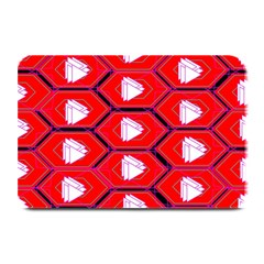 Red Bee Hive Background Plate Mats