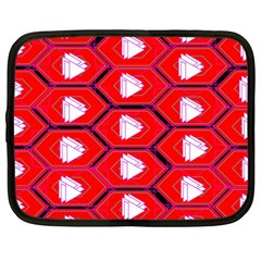 Red Bee Hive Background Netbook Case (large)