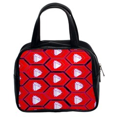 Red Bee Hive Background Classic Handbags (2 Sides)