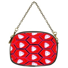 Red Bee Hive Background Chain Purses (one Side)