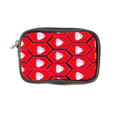 Red Bee Hive Background Coin Purse