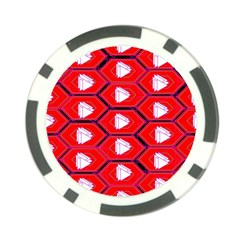 Red Bee Hive Background Poker Chip Card Guard (10 pack)