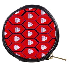 Red Bee Hive Background Mini Makeup Bags