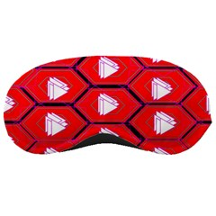 Red Bee Hive Background Sleeping Masks