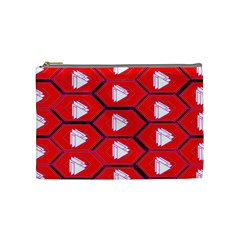 Red Bee Hive Background Cosmetic Bag (Medium)