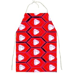 Red Bee Hive Background Full Print Aprons