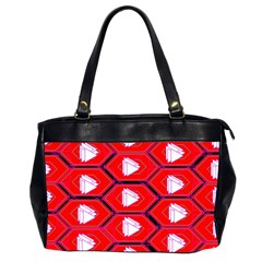 Red Bee Hive Background Office Handbags (2 Sides)