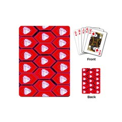 Red Bee Hive Background Playing Cards (Mini)
