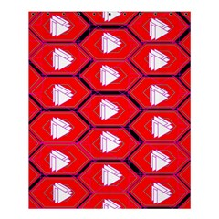 Red Bee Hive Background Shower Curtain 60  X 72  (medium)